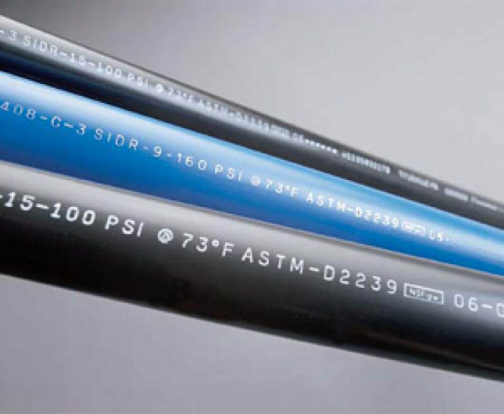 Plastic tubing using laser for variable text
