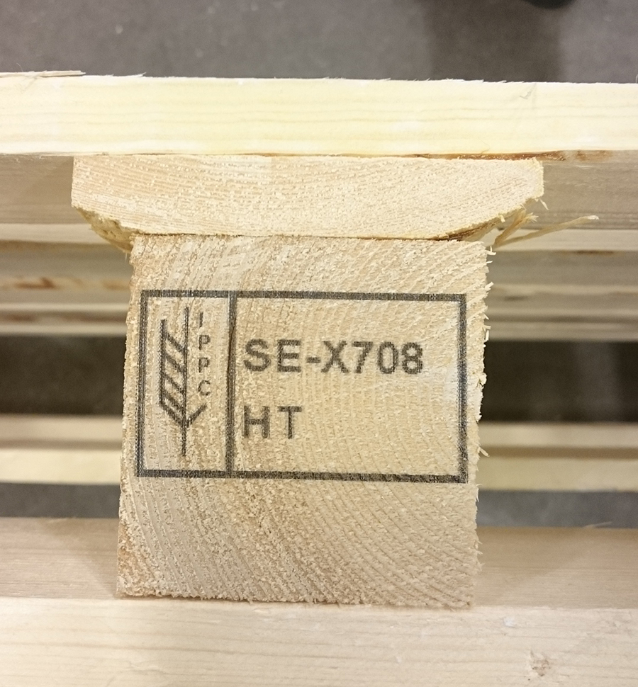 Regulatory mark on stick lumber with high-resolution marking system