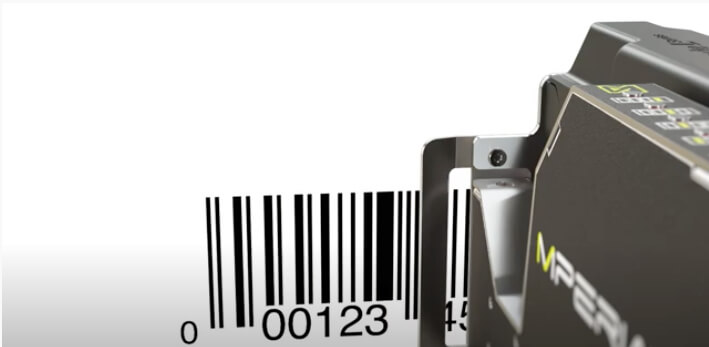 L-Series printhead printing out barcode